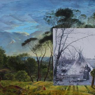 Et In Arcadia Ego - painting by Morwenna Morrison
